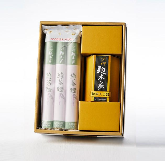 特級XO醬綠茶麵條白金禮盒 / 特殊グレードXO醤+りょく茶麺プラチナギフト / Luxury Set with Premium XO Sauce & Green Tea Noodles 1